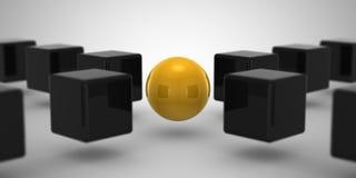 Cube et sphère Photographie stock