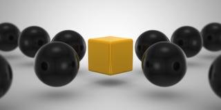 Cube et sphère Photo stock