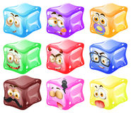 Cube with facial expressions Stock Image