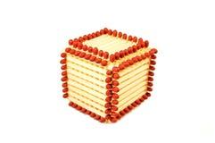 Cube fait d'allumettes Images stock