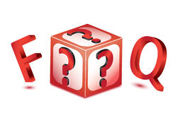 Cube Faq Icon Stock Photos