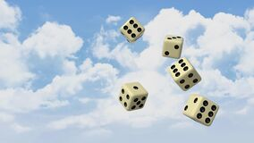 Cube, Fate, Luck, Sky, 3D, Blender Royalty Free Stock Photos