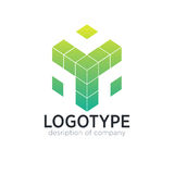 Cube figure logo icon design template Royalty Free Stock Photos