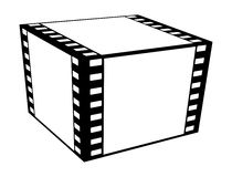 Cube film. Cube film isolated on white background Stock Photography