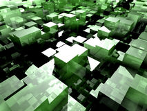 Cube Floor Stock Photo
