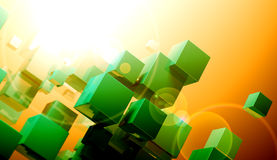 Cube formation concept Royalty Free Stock Image
