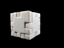 Cube formed by parts Royalty Free Stock Images