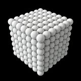 Cube formed spheres Stock Images