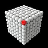Cube formed spheres Royalty Free Stock Photo