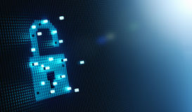 Cube Forming Digital Lock Icon. Security concept Royalty Free Stock Photo