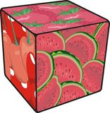 Cube Fruits Stock Photography