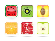 Cube fruits Stock Image