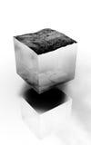 Cube futuriste en eau image libre de droits