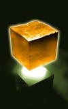 Cube futuriste en eau Images libres de droits