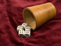 Cube - gambling games Royalty Free Stock Photos