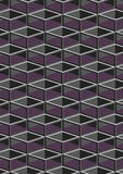 Cube geometric pattern. Royalty Free Stock Image