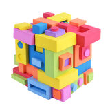 Cube of geometric shapes Stock Photos