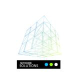 Cube geometry construction icon Stock Photo