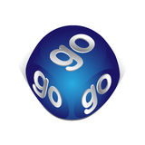 Cube with go. 3d cube with go icon for web Royalty Free Stock Images