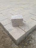 Cube granite brick Stock Photo