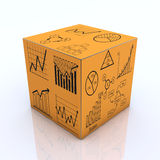 Cube graph and charts Stock Photos