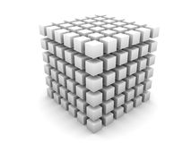 Cube gris Photos stock