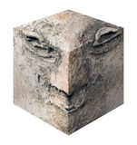 Cube head Royalty Free Stock Image