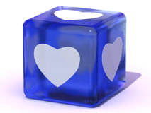 Cube with heart Stock Images