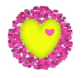 Cube heart Royalty Free Stock Photography