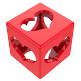 Cube with hearts Stock Photos
