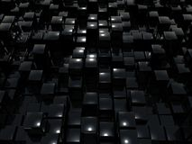 Cube hematite. Is 3d graphic (blcak cubes Royalty Free Stock Images