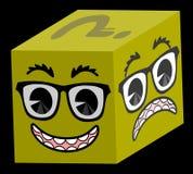 Cube heureux Photo libre de droits
