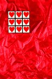 Cube heureux en jour de Valentines Image libre de droits