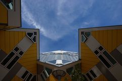 Cube houses hotel in Rotterdam Royalty Free Stock Image