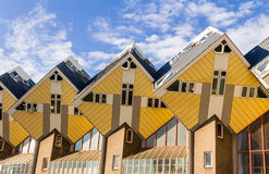 Cube house Rotterdam. Cube houses in the city of Rotterdam Stock Image