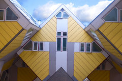 Cube houses. Modern cube houses in Rotterdam Royalty Free Stock Photo