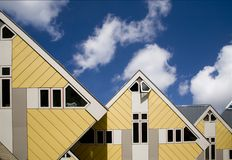 Cube houses 2. Yelllow Cube houses in  Rotterdam, Holland Stock Photo