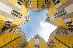 Cube houses designed by Piet Blom in Rotterdam; Netherlands. Royalty Free Stock Images