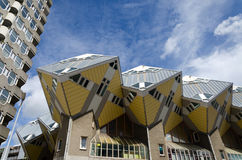 Cube Houses the iconic in the center of Rotterdam Stock Photography