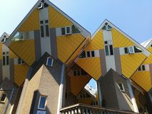 Cube houses. Modern architecture in Rotterdam, Netherlands Royalty Free Stock Photography