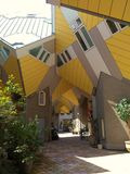 Cube houses. Modern architecture and stylish living in Rotterdam, Netherlands Royalty Free Stock Photo