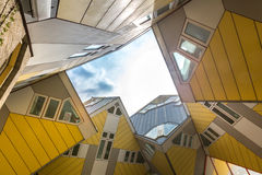Cube houses Rotterdam Netherlands Royalty Free Stock Photography