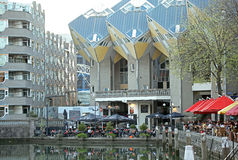 The cube houses in Rotterdam, Netherlands Royalty Free Stock Photo