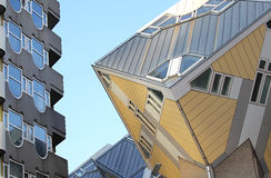 The cube houses in Rotterdam, Netherlands Stock Photo