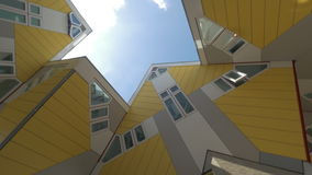 Cube Houses in Rotterdam, rotating shot stock video footage