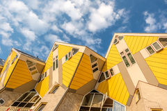 Cube houses in Rotterdam, South Holland, Netherlands. Royalty Free Stock Image