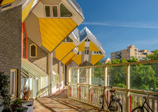 Cube houses in Rotterdam, South Holland, Netherlands. Royalty Free Stock Images