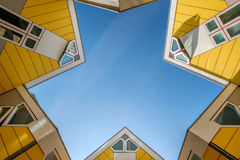 Cube houses in Rotterdam, South Holland, Netherlands. Royalty Free Stock Photography