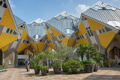 Cube houses are a set of innovative houses. Royalty Free Stock Photography