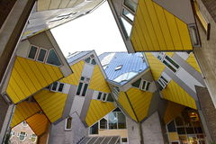 Cube houses, set of innovative houses in Rotterdam Royalty Free Stock Images
